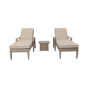 Darby Home Co Candor 3 Piece Chaise Lounge Set with Cushions