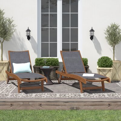 Single Chaise Sling Seat Outdoor Chaise Amp Lounge Chairs