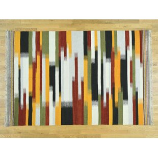 Price comparison One-of-a-Kind Bessey Handmade Kilim Wool Area Rug By Isabelline