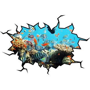 School of Fish Coral Reef Wall Decal  sc 1 st  Wayfair & Coral Reef Wall Decal | Wayfair