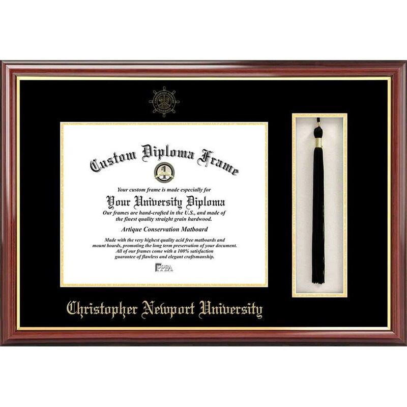 Diploma Frame Deals Christopher Newport University Petite Tassel Picture Frame Wayfair