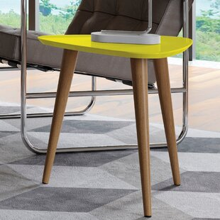 Lemington End Table with Splayed Wooden Legs by George Oliver