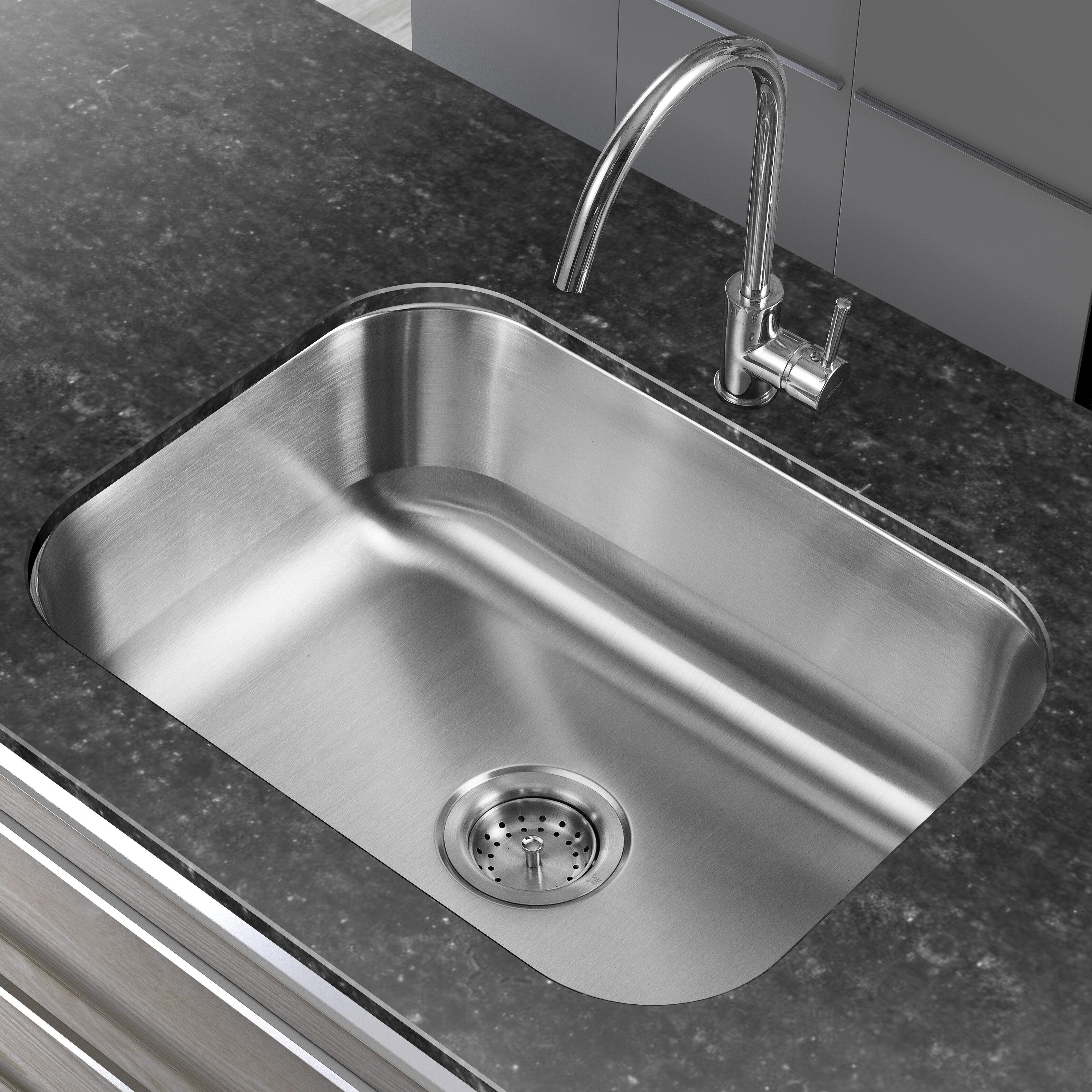 winpro 23 38   x 17 75   single basin undermount kitchen sink  u0026 reviews   wayfair winpro 23 38   x 17 75   single basin undermount kitchen sink      rh   wayfair com