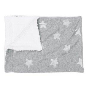Arinda Foiled Stripe Stars Jersey Baby Blanket