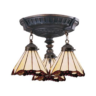 Loomis 3-Light Semi-Flush Mount by Astoria Grand