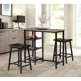 Oviedo 3 Piece Pub Table Set b..