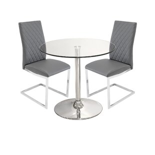 Iowa Dining Set With 2 Chairs By Metro Lane