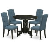 Anfa 5 - Piece Solid Wood Breakfast Nook Dining Set by Winston Porter