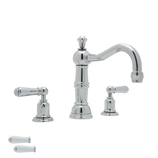 Rohl Perrin and Rowe Widespread Bathroom Faucet with Drain Assembly