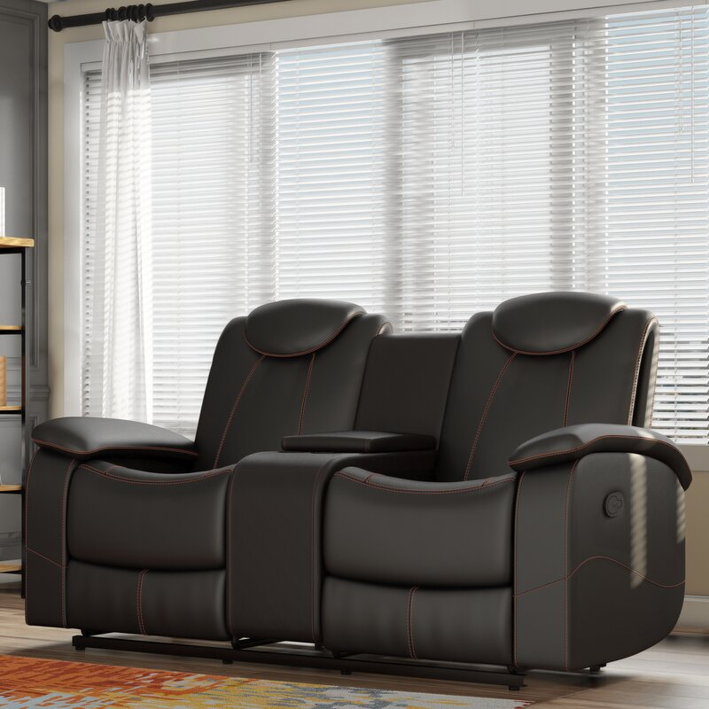 lauermarine with for loveseat double com furniture ashley alzena reclining microfiber from new popular console sale intended