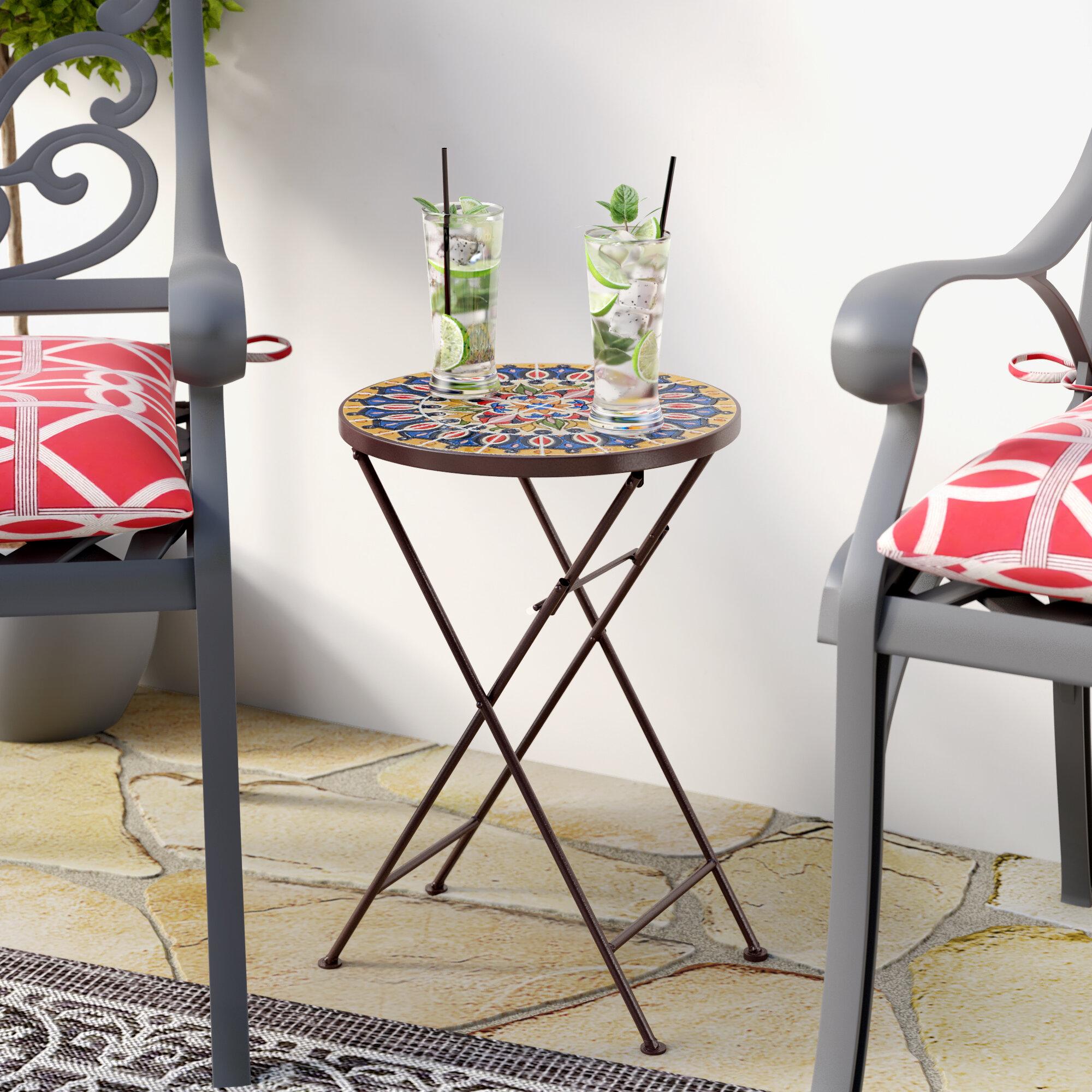 Fleur De Lis Living Rotherham Folding Side Table Reviews Wayfair