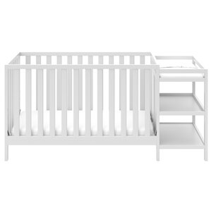 Pacific 3 In 1 Convertible Crib And Changer Combo. Black