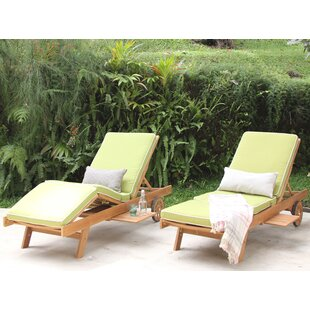 Cambridge Casual Monterey Teak Chaise Lounge with Cushion