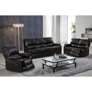 Layla 3 Piece Leather Living Room Set by Living In Style