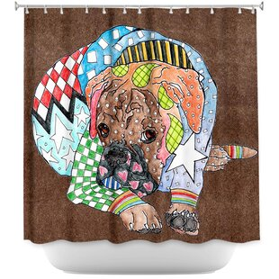 Boxer Dog Single Shower Curtain
