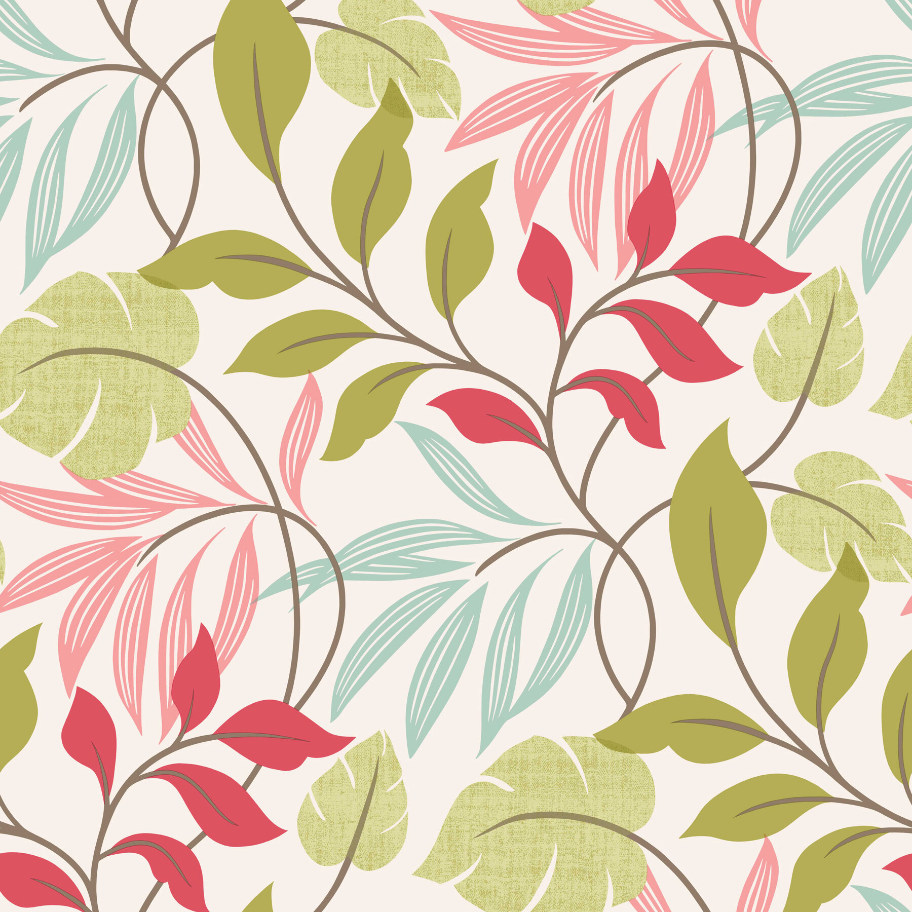 August Grove Teplin Modern Leaf Trail 33 X 20 5 Floral 3d