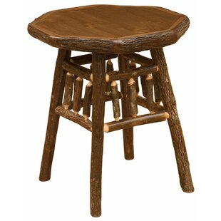 Read Reviews Hickory Teton End Table by Fireside Lodge