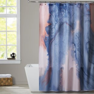 Deb McNaughton Marbled Effect Single Shower Curtain