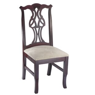 Chippendale Side Chair in Cream Microfiber