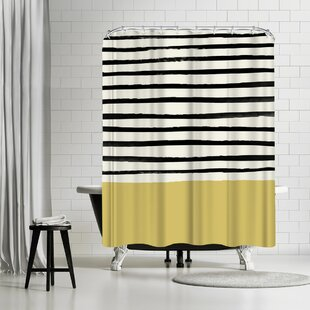 Leah Flores Daffodil Single Shower Curtain by East Urban Home Coupon