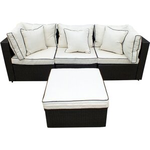 4 Piece Hannah Wicker Patio Seating Group Part 57