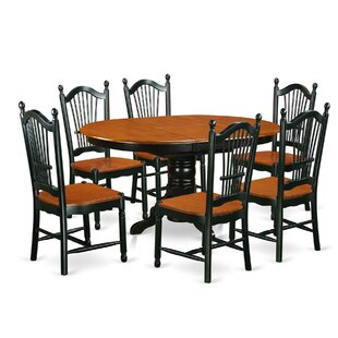 Emmaline 7 Piece Dining Set by Alcott Hill