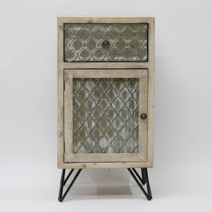 Phan Metal and Wood 1 Door Accent Cabinet