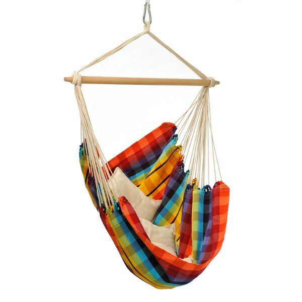 The Holiday Aisle  Molina Brazil Cotton Chair Hammock Color: Rainbow