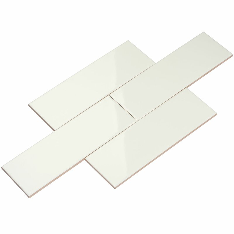 4 X 12 Ceramic Subway Tile In White