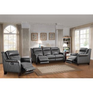 Kale Reclining 3 Piece Leather Living Room Set by Red Barrel Studio