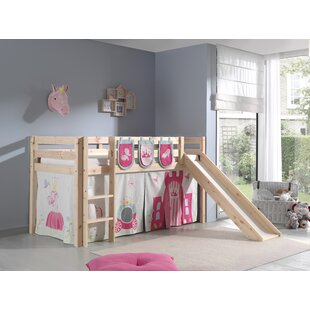 Escalera European Single Mid Sleeper Bed With Textile Set By Zoomie Kids