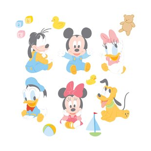 7057764b321 Disney Baby Mickey Mouse Wall Decal