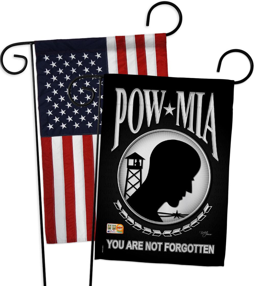 Breeze Decor Pow Mia Impressions Decorative American Applique 2 Sided Polyester 19 X 13 In Garden Flag Wayfair