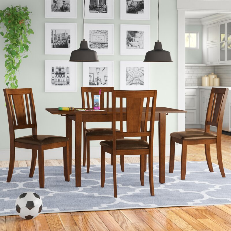 Andover Mills Antonio Butterfly Leaf Rubber Solid Wood Breakfast Nook Dining Set Reviews Wayfair