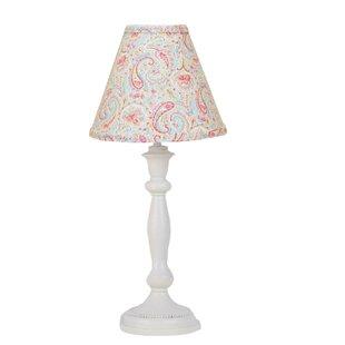 Bedroom lamp shades wayfair gustave paisley 19 table lamp aloadofball Choice Image