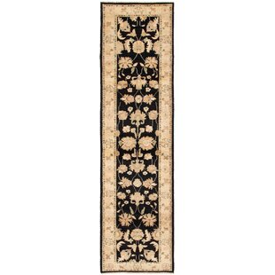 Comparison One-of-a-Kind Kali Hand-Knotted Runner 2'6 x 9'9 Wool Beige/Black Area Rug By Isabelline