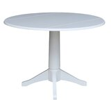 Angelia Drop Leaf Rubberwood Solid Wood Dining Table by Canora Grey
