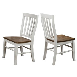 Thomasson Rake Back Solid Wood Dining Chair (Set of 2)