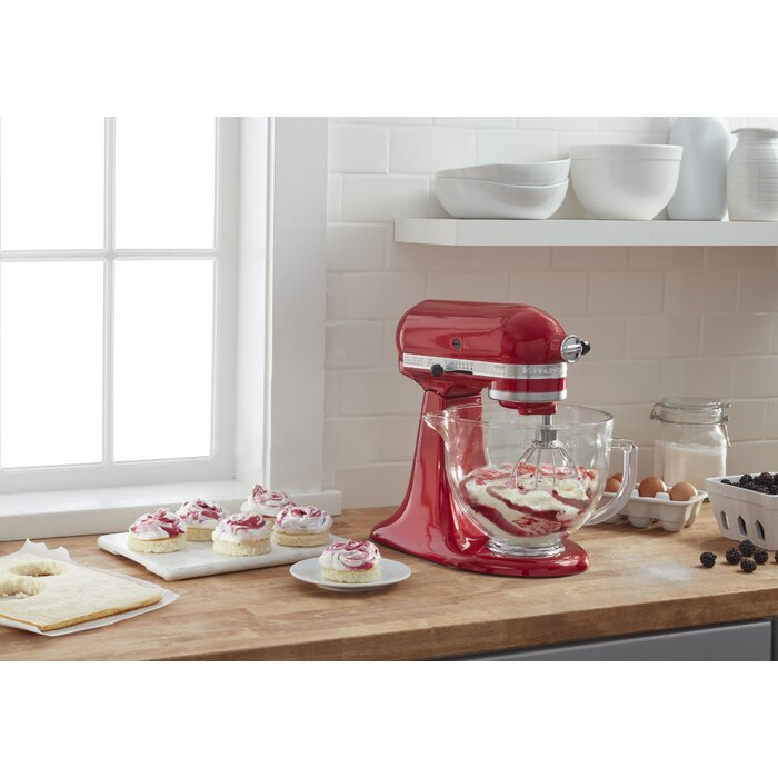 KitchenAid Artisan Design Series 10 Speed 5 Qt. Stand Mixer with Glass Bowl