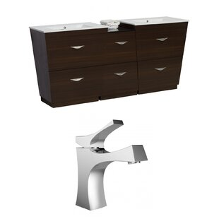 Kao Floor Mount 74 Double Bathroom Vanity Set by Royal Purple Bath Kitchen