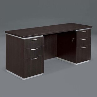 Pimlico Double Pedestals Computer Desk by Flexsteel Contract Best