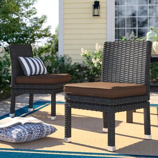 Crowley Patio Dining Chair with Cushion (Set of 2) by Sol 72 Outdoor