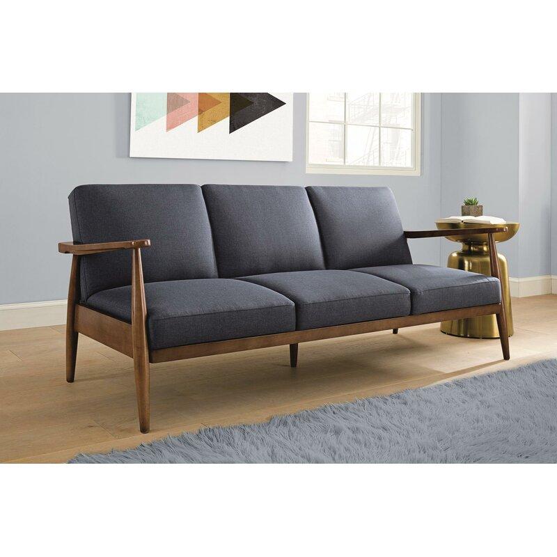 Langley Street Jermaine Mid-Century Modern Convertible Sofa ...