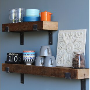 Chumbley Made Chunky Reclaimed Barn Wood 2 Piece Wall Shelf Set