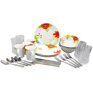 Levon 28 Piece Dinnerware Combo Set, Service For 4 by Winston Porter Discount