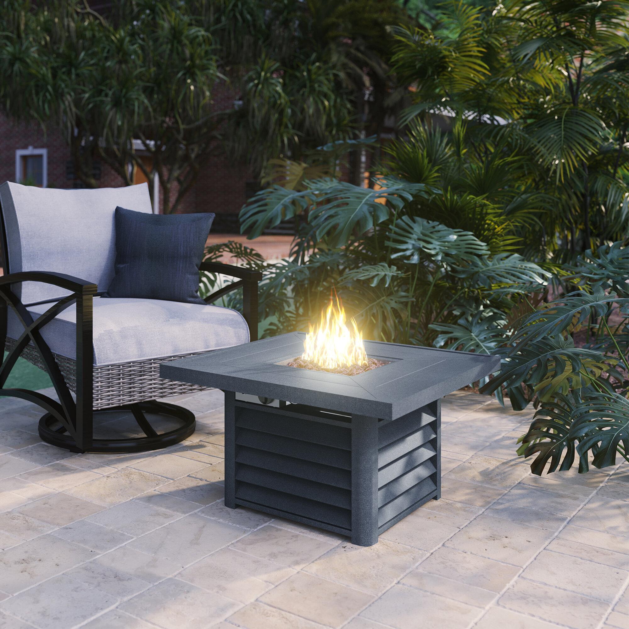 Image of: Martha Stewart Cottage Propane Gas Fire Pit Table Wayfair