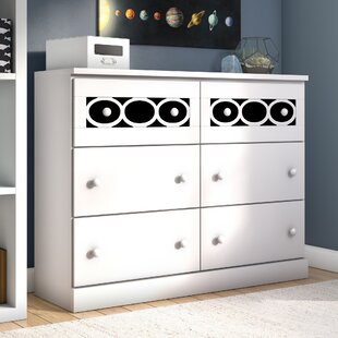 Stephon Contemporary 6 Drawer Double Dresser by Zoomie Kids