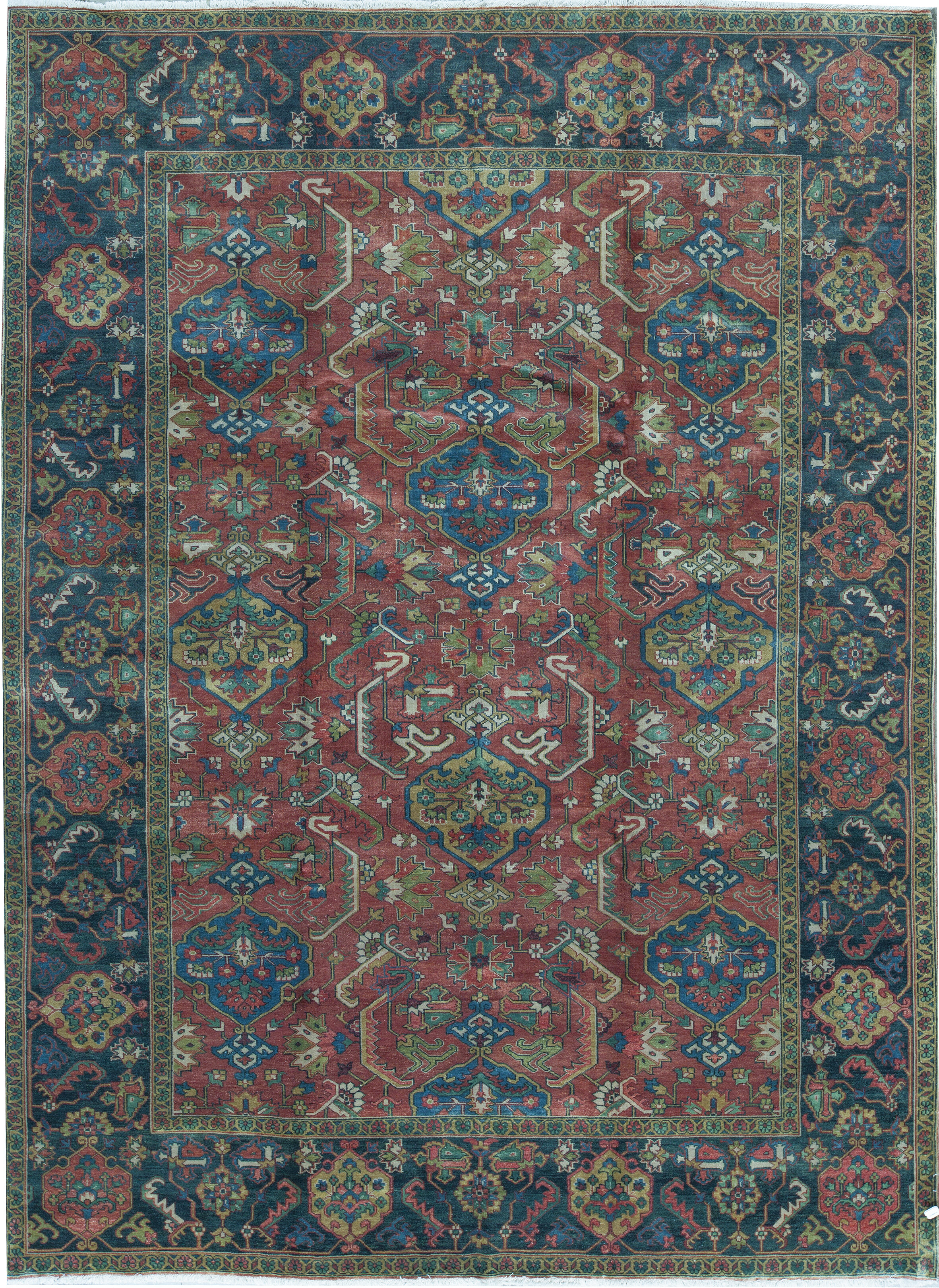 Bokara Rug Co Inc Oriental Hand Knotted Wool Red Blue Area Rug Wayfair