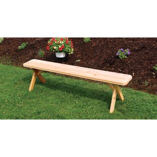 August Grove Kennicott Crossleg Wood Bench