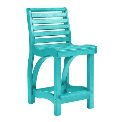 Phenomenal Raja 24 Patio Bar Stool Bayou Breeze Frame Color Turquoise Creativecarmelina Interior Chair Design Creativecarmelinacom